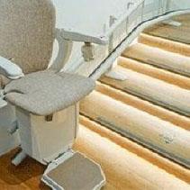 curved stair lift Star Lift St. Paul Minnesota
